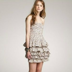 J. Crew Daisy Day Floral Strapless Dress